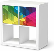 Möbeldekor für IKEA Expedit Regal 2 Türen Quer