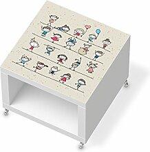 Möbeldekor Kindermöbel für IKEA Lack Beistelltisch mit Rollen   Klebefolie Sticker Aufkleber Klebefolie   Ideen für IKEA Möbel für Kinder Kinderzimmertapete   Kids Kinder Happy Kids