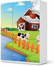 Möbeldekor Kindermöbel für IKEA PaxSchrank 201 cm Höhe - 3 Türen   Bedruckte Klebe-Folie Möbelgestaltung   Deko Ideen Erlebnisraum Kindertapeten   Kids Kinder Cowfarm 2