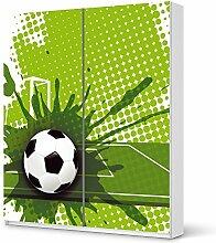 Möbelfolie selbstklebend für IKEA PaxSchrank 236 cm Höhe - Schiebetür   Dekorsticker Kinder-Möbel umgestalten   Ideen für Erlebnisraum Wohnen   Kids Kinder Goal