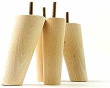 Möbelfüße aus Holz 135mm hoch Ersatz Möbel