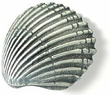 Möbelgriff Achim, Meer, Muschel, Design, Zinkdruckguß - Zinnfarbig, LA 16 mm