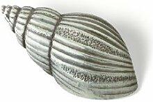 Möbelgriff Delbrück, Meer, Muschel, Design, Zinkdruckguß - Zinnfarbig, LA 16 mm