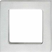 Möbelgriff Edelstahl Glastürgriff zum Kleben Muschelgriff eckig Griffmuschel für Glastüren | 75 x 50 x 6 mm | Griff zum Aufkleben | Möbelbeschläge von GedoTec®
