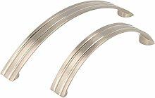 Möbelgriff Küchengriff Schrankgriff aus Metall Edelstahl Optik LA 96mm oder 128mm (Edelstahl Optik, 96mm)