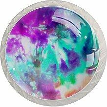 Möbelknäufe aus ABS-Glas, rund, für Tür,