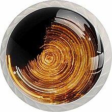 Möbelknöpfe aus ABS-Glas, rund, für Tür,