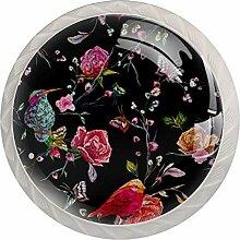 Möbelknöpfe aus Glas, 3,5 cm, für