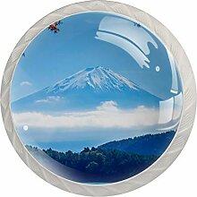 Möbelknöpfe aus Glas, 3,8 cm, für