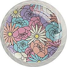 Möbelknöpfe Blumenfarben Hardware