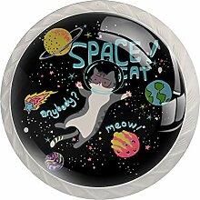 Möbelknöpfe Planet Space Cat Hardware