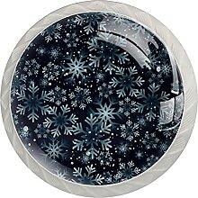 Möbelknöpfe Schneeflocken Hardware