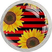 Möbelknöpfe Sonnenblume Hardware