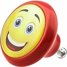Möbelknopf 05897R Smiley- Möbelknöpfe