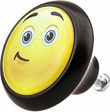 Möbelknopf 05899S Smiley- Möbelknöpfe