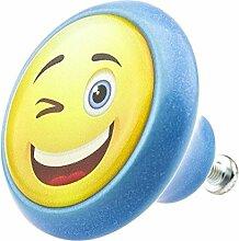 Möbelknopf 05900B Smiley- Möbelknöpfe