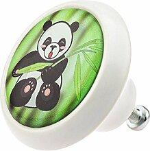 Möbelknopf 05931W Panda Bär- Möbelknöpfe
