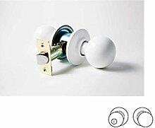 Möbelknopf 3900Schloss mit Vierkant Türknauf Kugel, weiß