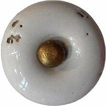 Möbelknopf Keramik altbeige rund D 3 cm Möbelknauf Schubladengriff Möbelgriff
