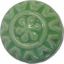 Möbelknopf Keramik hellgrün rund D 3,3 cm Möbelknauf Schubladengriff Möbelgriff