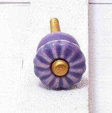 Möbelknopf Keramik lavendel/ lila rund Durchmesser 2 cm Möbelknauf Schubladengriff Möbelgriff