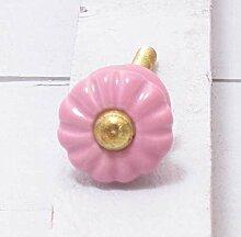 Möbelknopf Keramik rosa rund Durchmesser 2 cm Möbelknauf Schubladengriff Möbelgriff