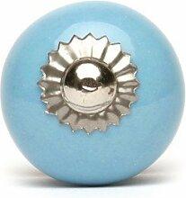 Möbelknopf klein uni in hellblau (Möbelknauf Möbelgriff)
