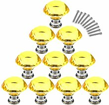 Möbelknopf Kristall , Lommer 10 Pcs 3CM
