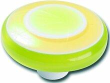 Möbelknopf mit grünen Ringen, 9 Stück, Schrankknopf, Kommodenknopf