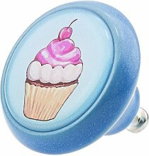 Möbelknopf Möbelknauf Möbelgriff Cup Cake Eis 03455B aus über 3 0 verschiedenen Farben Mustern und Designs für Haus Küche und Dekoration