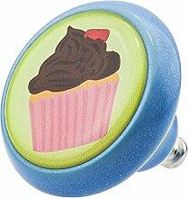Möbelknopf Möbelknauf Möbelgriff Cup Cake Eis 03456B aus über 3 0 verschiedenen Farben Mustern und Designs für Haus Küche und Dekoration