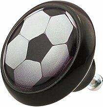 Möbelknopf Möbelknauf Möbelgriff Fußball Sport 03445S aus über 2 5 verschiedenen Farben Mustern und Designs für Kinder Kinderzimmer Kindermöbel