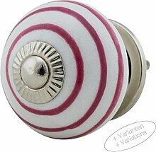Möbelknopf Möbelknauf Möbelgriff JKE0134 1065-E-pink R1-11 Keramik Porzellan handbemalte Vintage Möbelknöpfe für Schrank, Schublade, Kommode, Tür von Jay Knopf