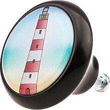 Möbelknopf Möbelknauf Möbelgriff Leuchtturm Leuchttürme 03468S aus über 3 0 verschiedenen Farben Mustern und Designs für Kinder Kinderzimmer Kindermöbel