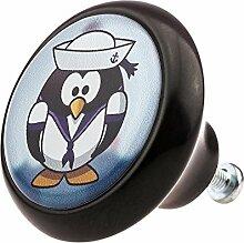 Möbelknopf Möbelknauf Möbelgriff Lustiger Pinguin 03482S aus über 3 5 verschiedenen Farben Mustern und Designs für Kinder Kinderzimmer Kindermöbel