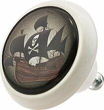 Möbelknopf Möbelknauf Möbelgriff Pirat Piratenschiff 03435W in über 2 0 verschiedenen Farben Mustern und Designs für Kinder Kinderzimmer Kindermöbel