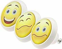 Möbelknopf Möbelknauf Möbelgriff Set ECO072 0757 3er Happy Smiley bunt grau rosa weiß schwarz grün rot blau Glas Optik Antik Porzellan Shabby Chic Möbelknöpfe Griffe Knäufe für Schrank Schublade Kommode Kinderzimmer