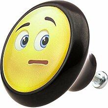 Möbelknopf Möbelknauf Möbelgriff Smiley 05896S verschiedene Farben Muster und Designs für Kinder Kinderzimmer Kindermöbel