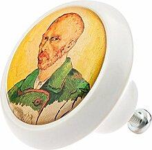 Möbelknopf Möbelknauf Möbelgriff Van Gogh Kunst 02051W aus über 8 0 verschiedenen Farben Mustern und Designs für Kommode Schrank Schublade Deko