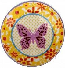 Möbelknopf Schmetterling Blumen Knauf bun