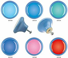 Möbelknopf Set 6er IMB0004B Blau Farben -