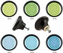 Möbelknopf Set 6er IMB0008S Schwarz Kreis Spirale