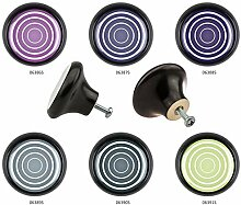 Möbelknopf Set 6er IMB0010S Schwarz Kreis Spirale
