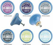 Möbelknopf Set 6er IMB0153B Blau Los Angeles -