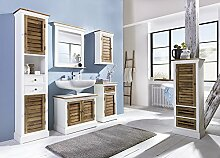 Möbelkultura BGD-badsetk Badmöbel, Holz, weiß/grau, 30 x 44 x 190 cm