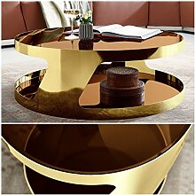 Moebella Couchtisch Chrom Farbe Gold Champagner