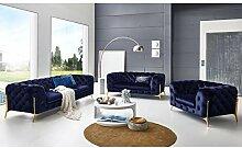 Moebella Designer Couchgarnitur 3-2-1-Sitzer