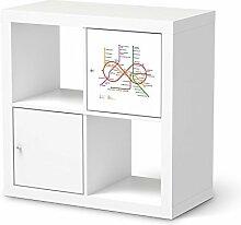Möbelsticker für IKEA Kallax Regal 1 Türelement