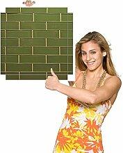 Möbelsticker gruene Mauer für Beistelltisch.