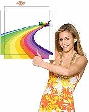 Möbelsticker Regenbogenfarben gemalt für